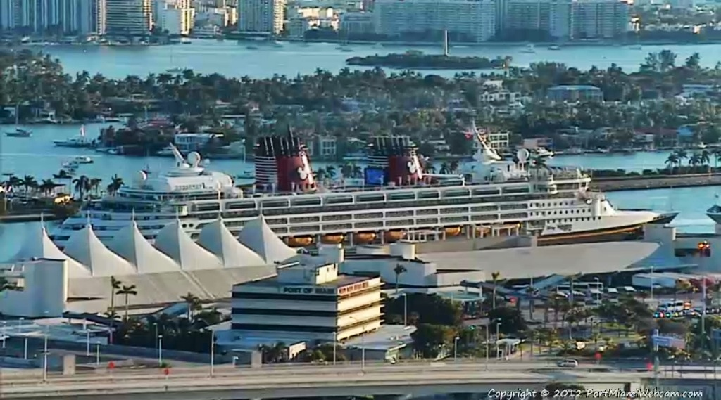 Disney Wonder - Port of Miami Close Up