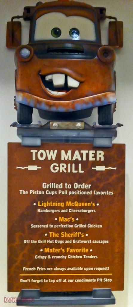Flo's V8 Cafe - Tow Mater Grill - Menu