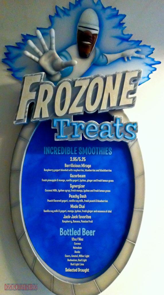 Frozone Treats - Menu