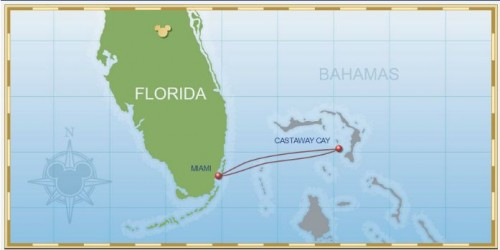 2 Night Bahamian Cruise Disney Magic Itinerary B Map