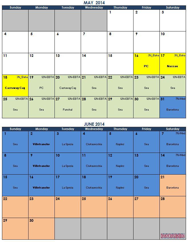 May June 2014 Calendar