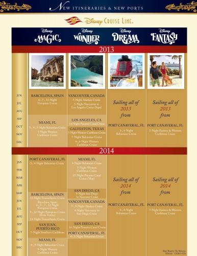 DCL 2013-2014 Itineraries Flier