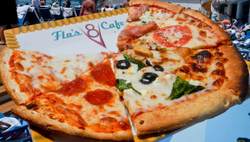 Flo's V8 Cafe Luigi's Pizza Sampler