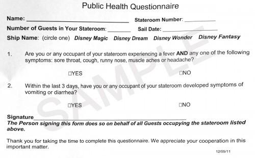 DCL Public Health Questionnaire