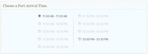 DCL Port Arrival Time Selection