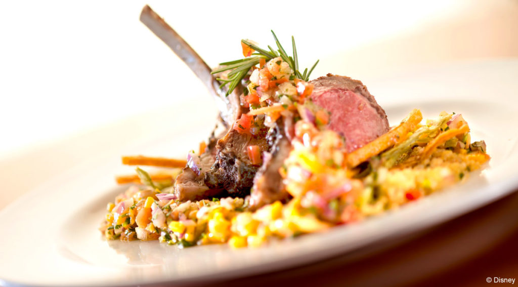 Carioca's - Adobo Rubbed Rack of Lamb with Quinoa Salad & Papaya, Rosemary, Garlic Mojo
