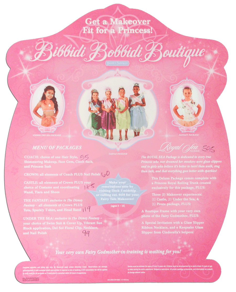 Bibbidi Bobbidi Boutique Hairstyle Options Disney Parks