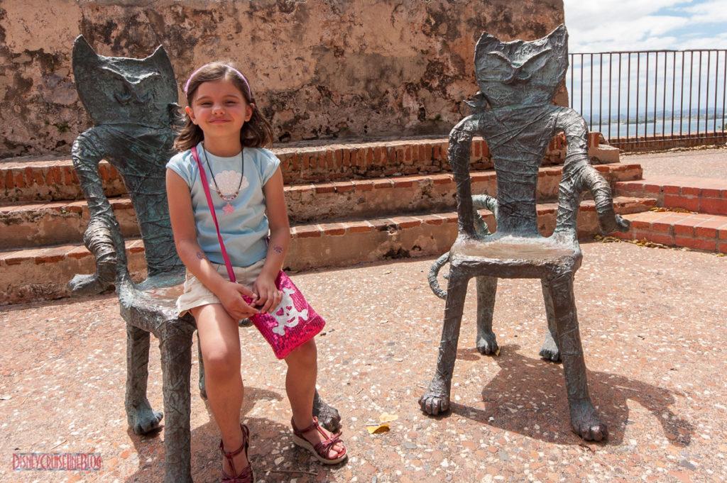 Old San Juan - Cat Sculpture Chairs