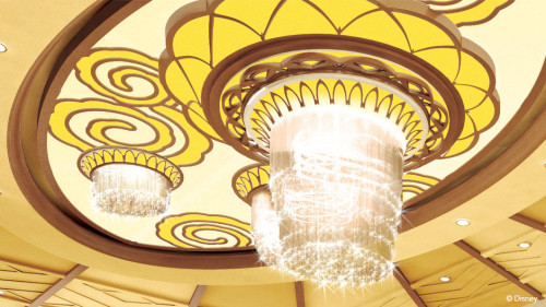 Disney Magic Refurb Atrium Chandelier