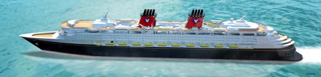 Disney Magic Refurb Port Side Rendering