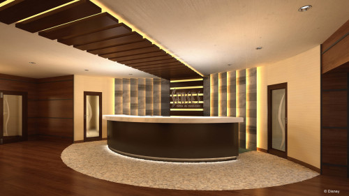 Disney Magic Refurb Senses Spa Salon Reception
