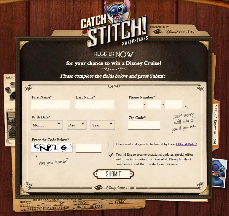 Catch Stitch - Registration