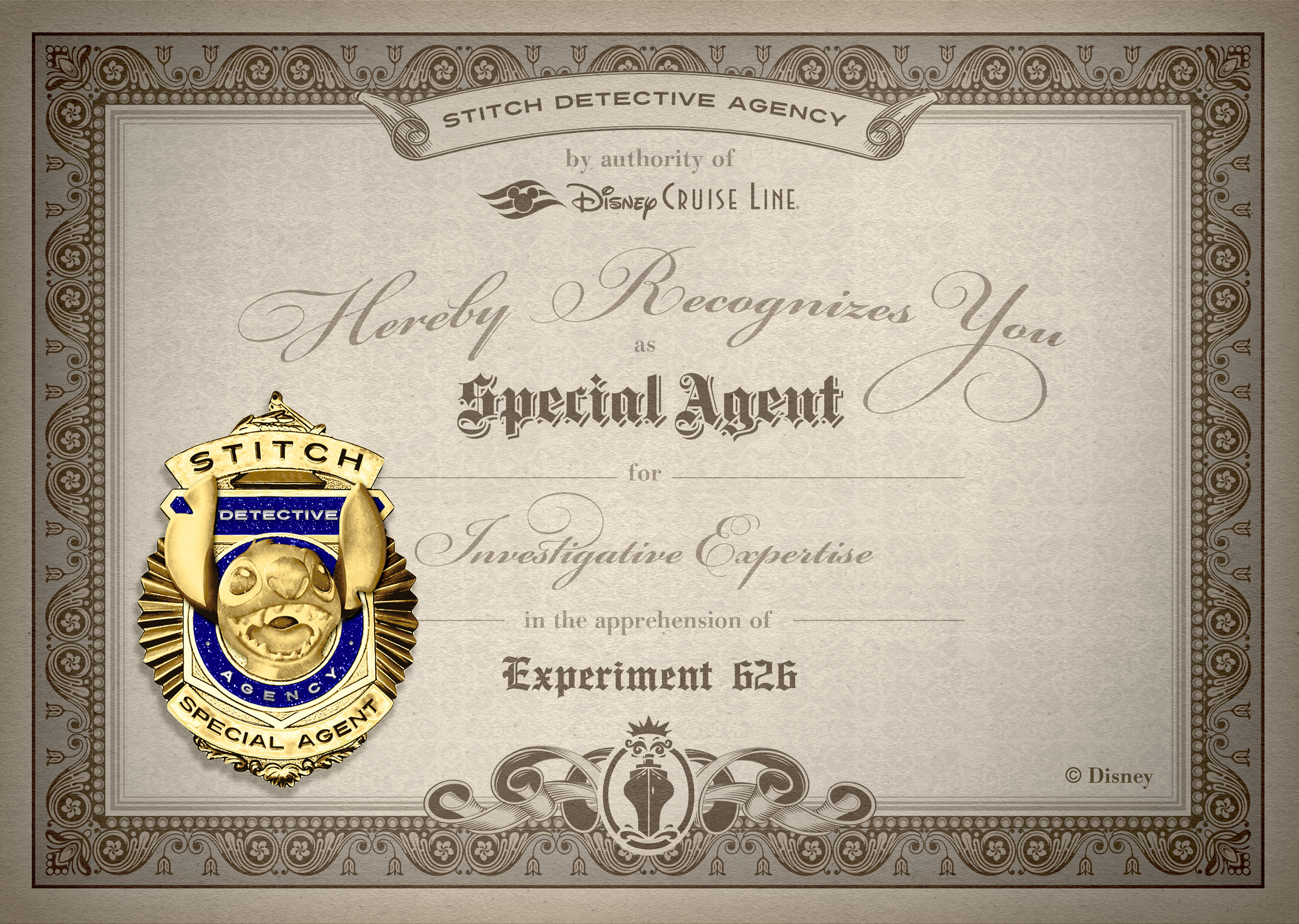Catch Stitch Badge Certificate