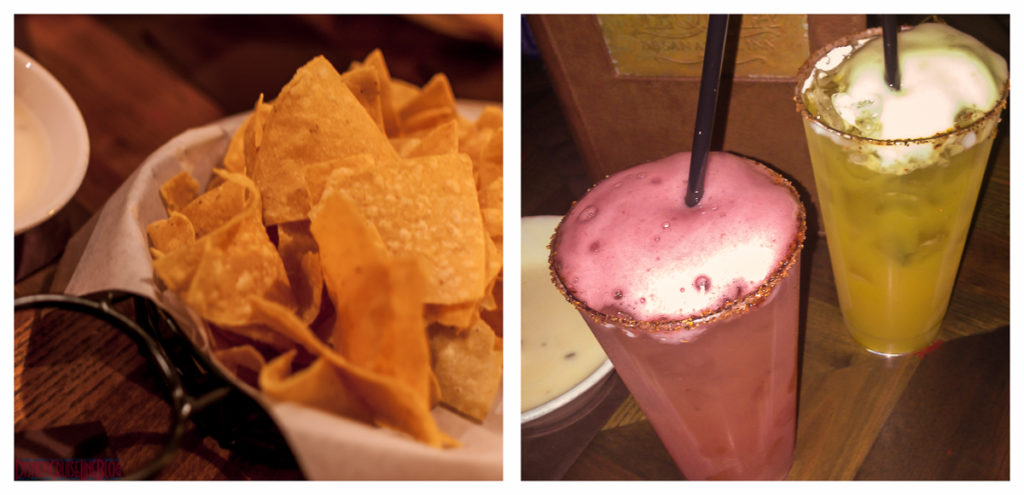 Blood Orange & Wild Passion Fruit Margaritas with Chips & Queso