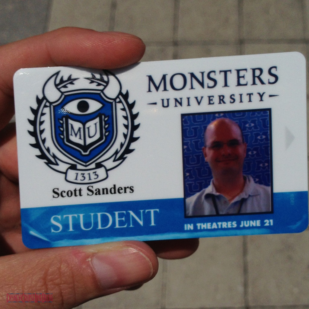 My Monsters Univerisity Student ID