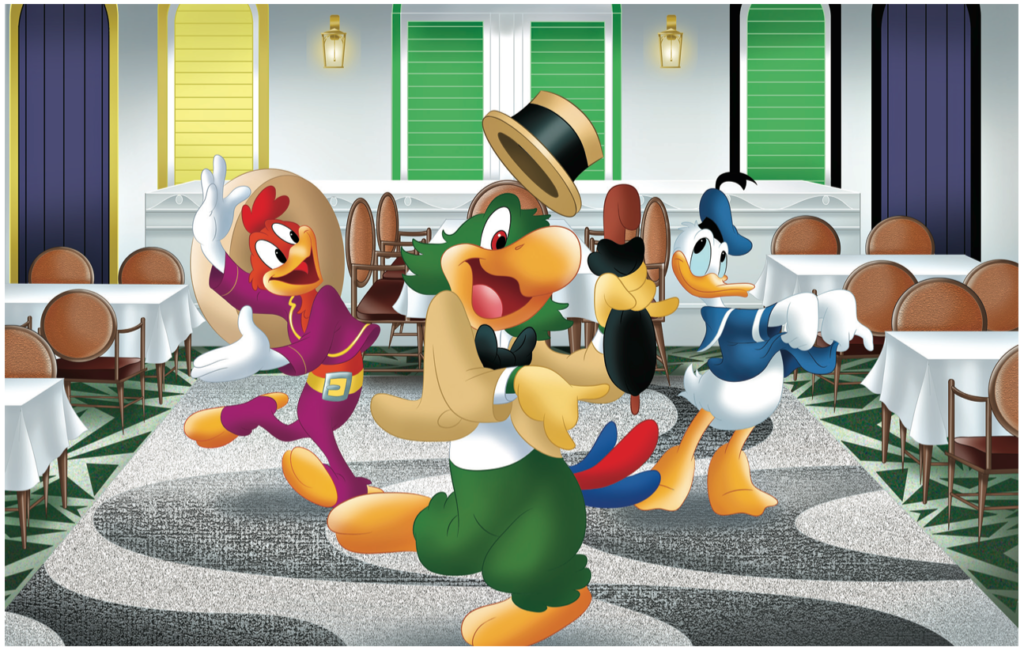 Disney Magic Refurb Ducky Williams Carioca's Print