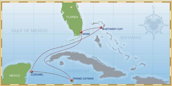 6-Night Western Caribbean Cruise on Disney Wonder- Itinerary A