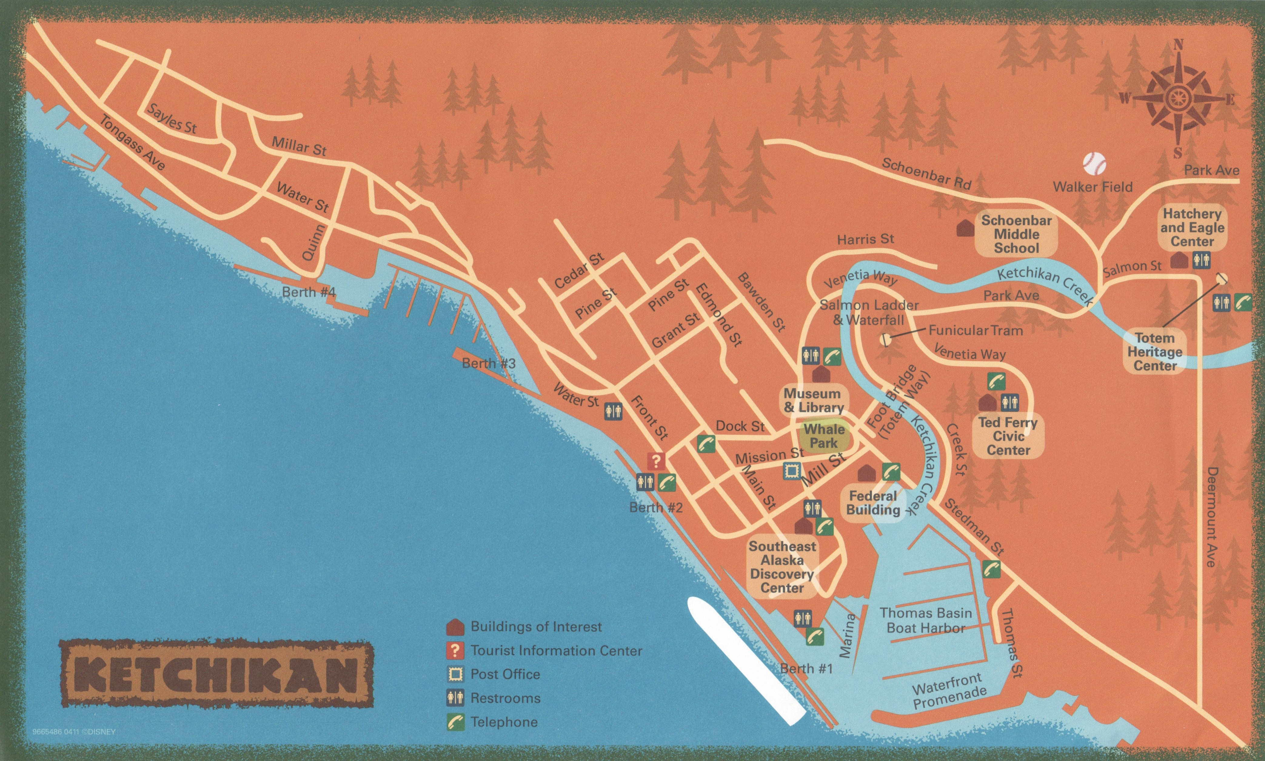 Ketchican Map