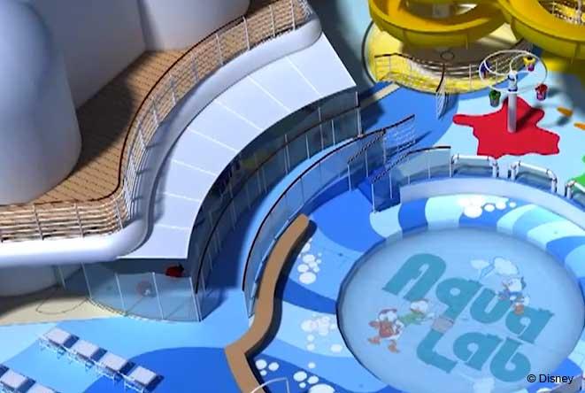 Disney Magic Refurb AquaLab Nephews Splash Zone