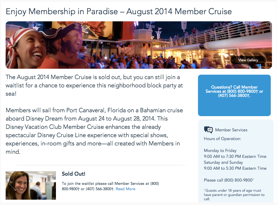 DCL DVC August 2014 Members Cruise