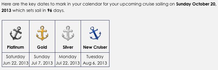 Disney Cruise Online Booking Window Calculator Sample