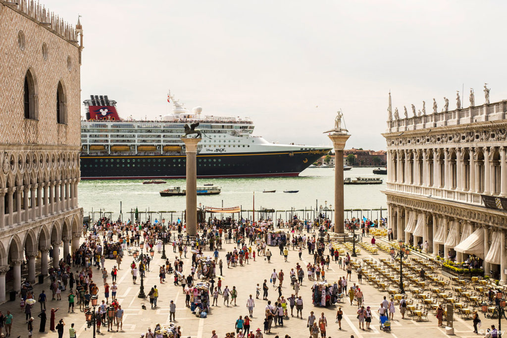 Disney Magic Sails Past St Mark's Square July 3, 2013