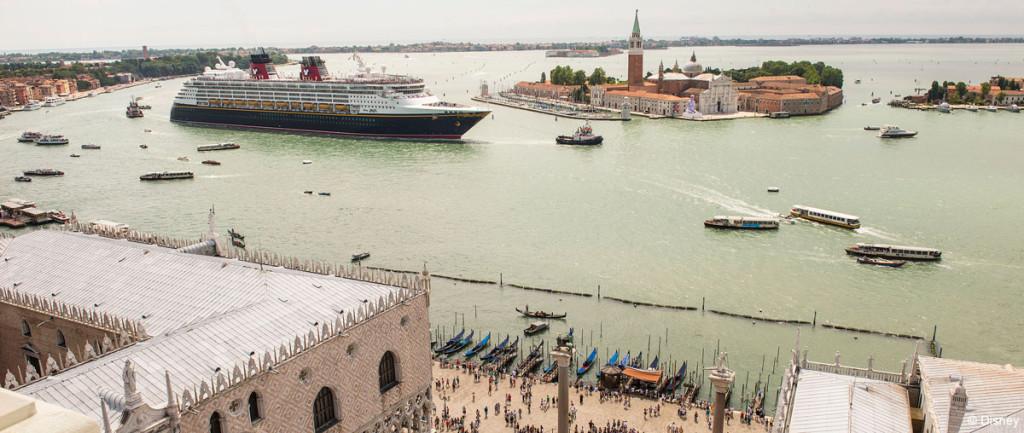 Disney Magic Sails Past San Giorgio Maggiore Pano July 3, 2013