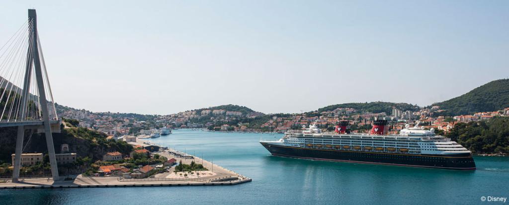 Disney Magic Sails By Dubrovnik Franjo Tuđman Bridge