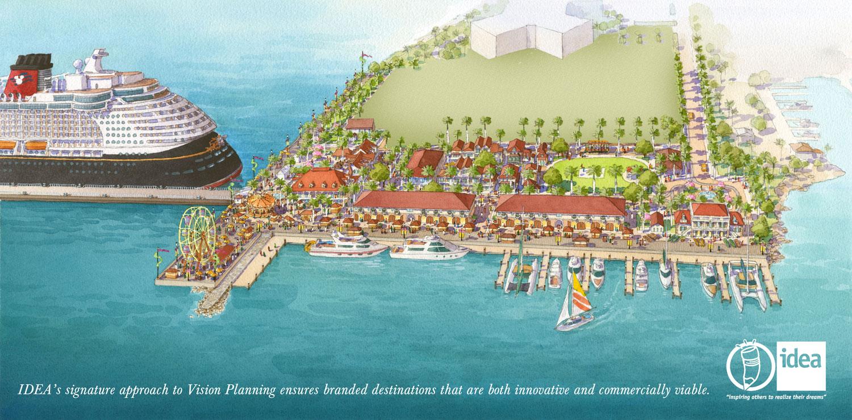 Disney Cruise Line Partially Behind Tortola Pier Park Port