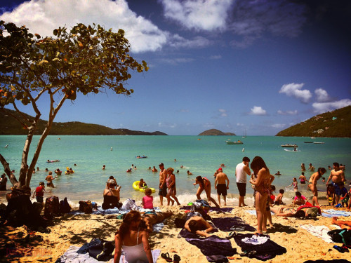 Magens Bay Beach Crowds