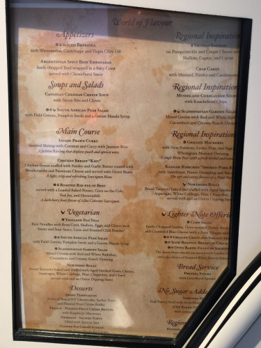 World Of Flavour Complete Dinner Menu Magic July 2015