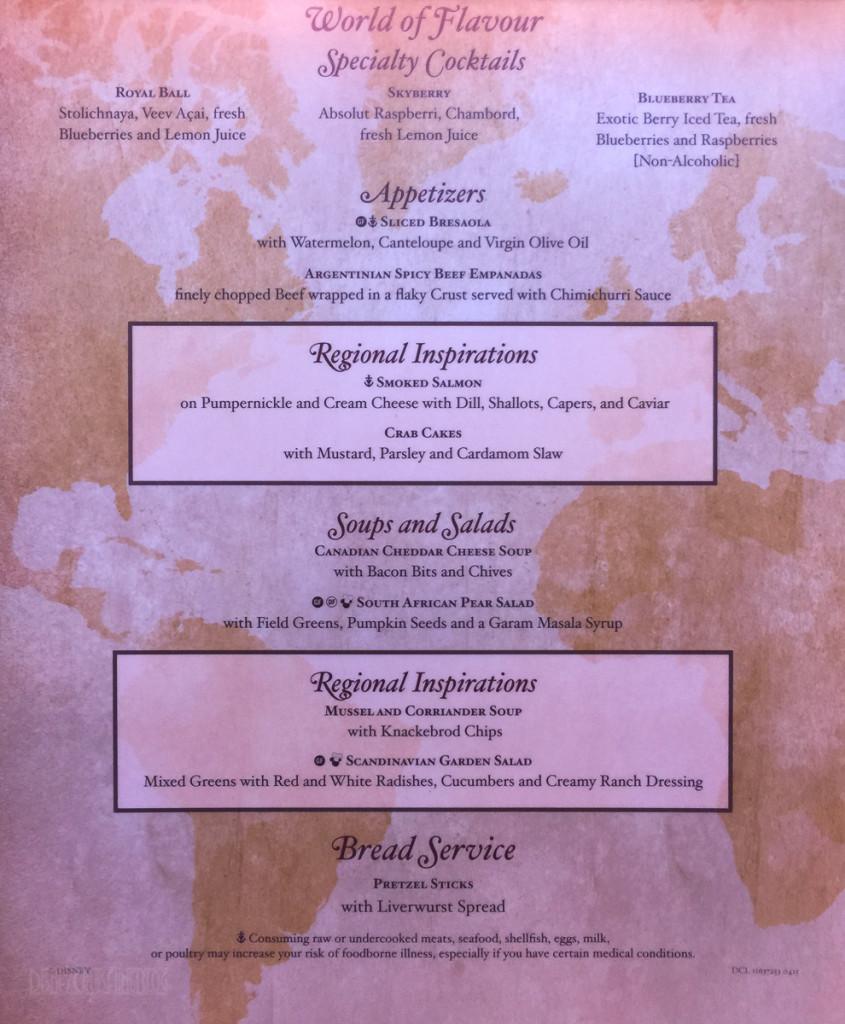 World Of Flavour Dinner Menu A Magic July 2015
