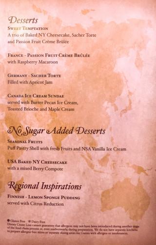 World Of Flavour Dessert Menu B Magic July 2015
