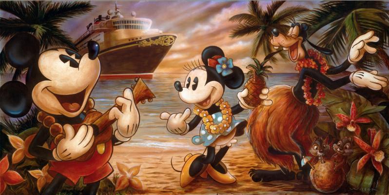 Darren Wilson - DCL 2013 - Castaway Cay - Mickey Minnie Goofy Chip Dale
