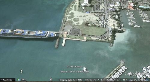 Tortola BVI Google Earth 2004