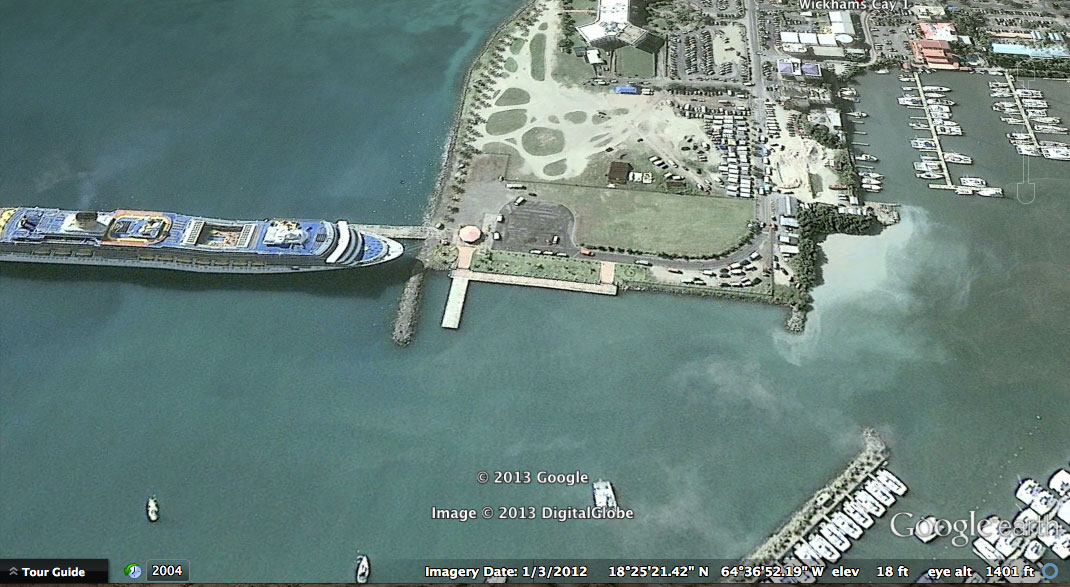 Disney Cruise Line Negotiating Berthing Space In Tortola As Early - Cruise ship google earth
