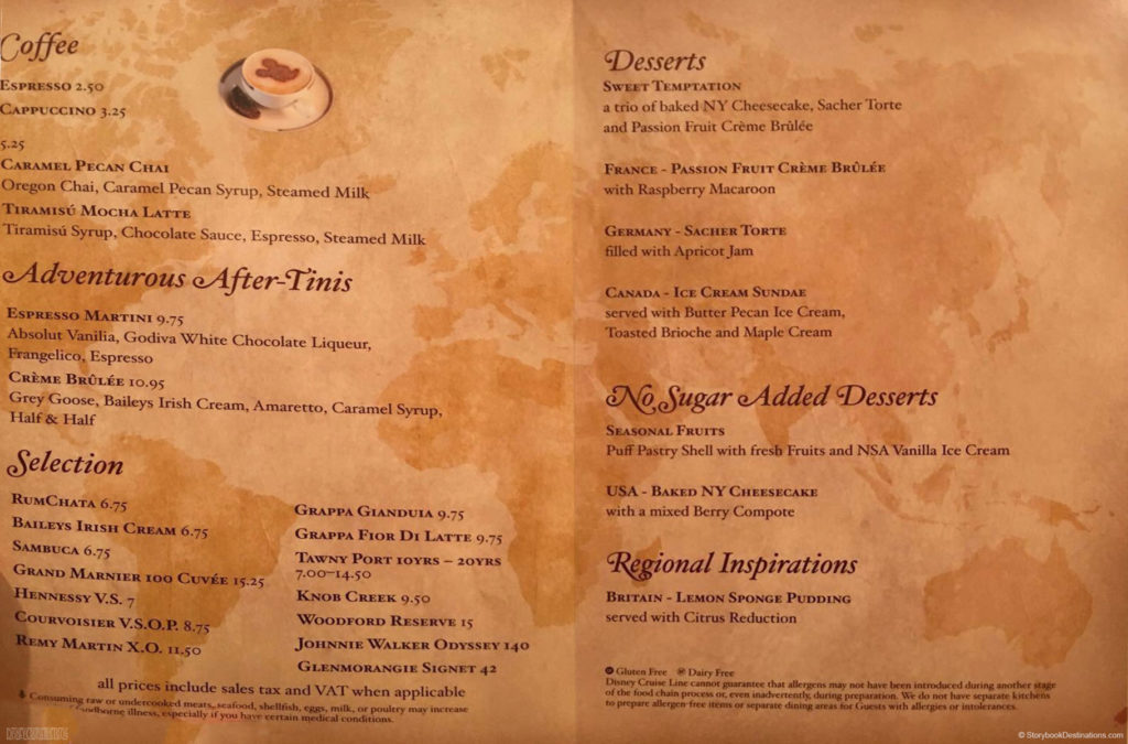 World Of Flavour Dessert Menu Magic June 2016