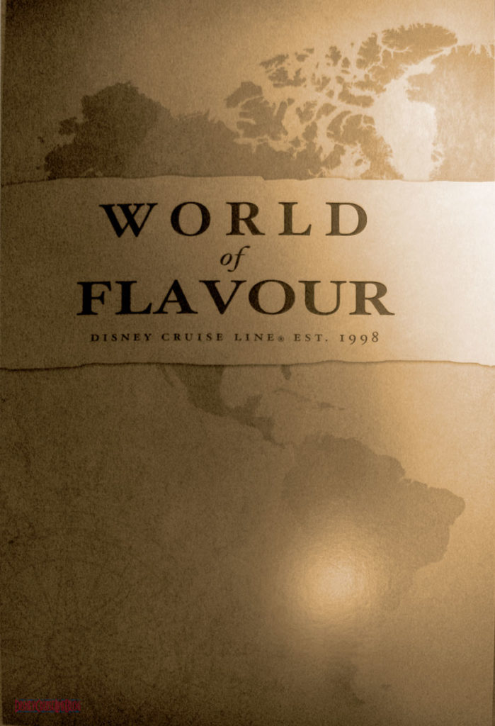World Of Flavour Dinner Menu Front May 2013