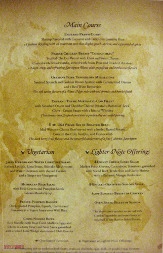 World Of Flavour Dinner Menu Inside 2 May 2013