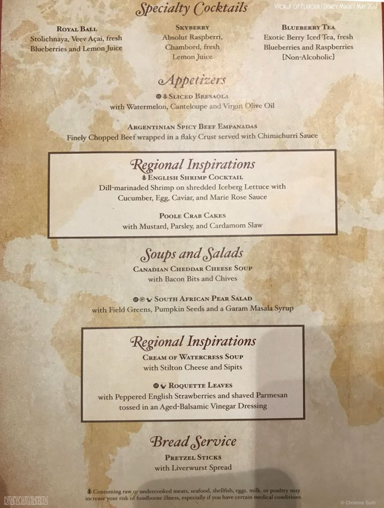 World Of Flavour Dinner Menu A Magic May 2017
