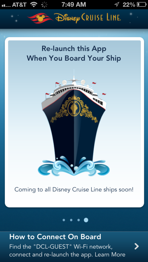 DCL App Screen Coming Soon