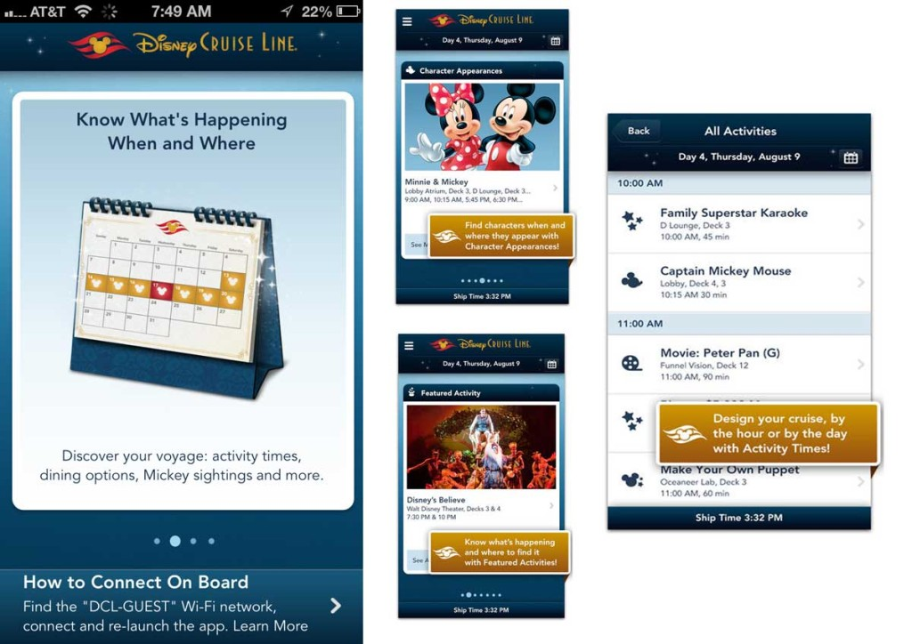 DCL App Screen Activities Summary