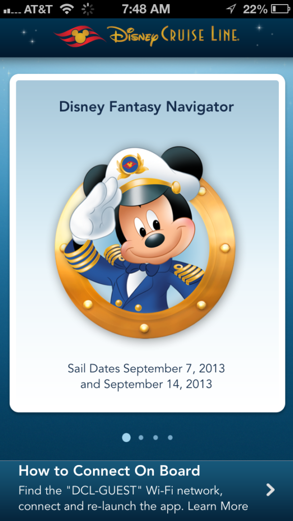 DCL App Screen Welcome Screen Mickey