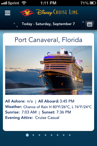 DCL App Screenshot Live Daily Overview
