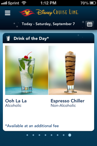 DCL App Screenshot Live Drink of the Day