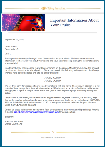 DCL Email Wonder Cx Sailings 2014 Dry Dock