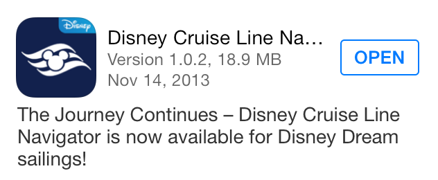 DCL Navigator App Update Disney Dream