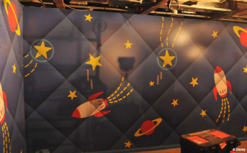 Disney Magic Dry Dock Cadiz DPB Oceaneer Club Andy's Room Wall