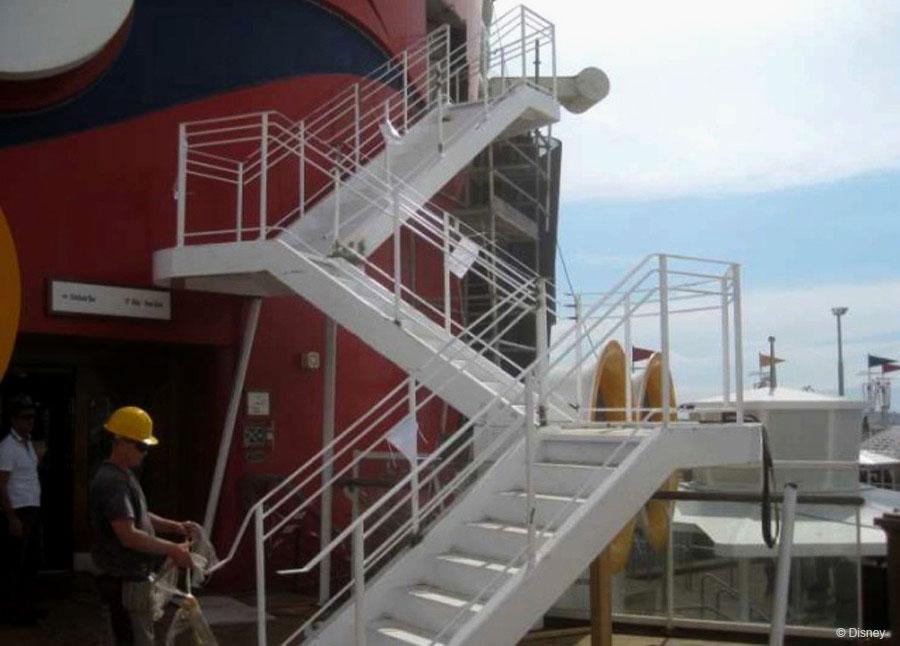 Disney Magic Dry Dock Cadiz AquaDunk Stairs