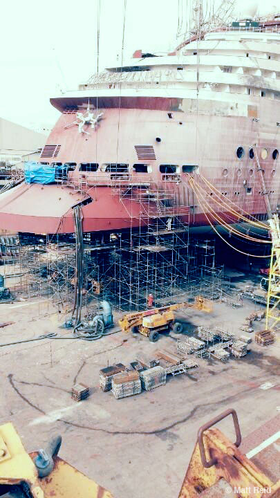 Disney Magic Dry Dock Ducktail Stern